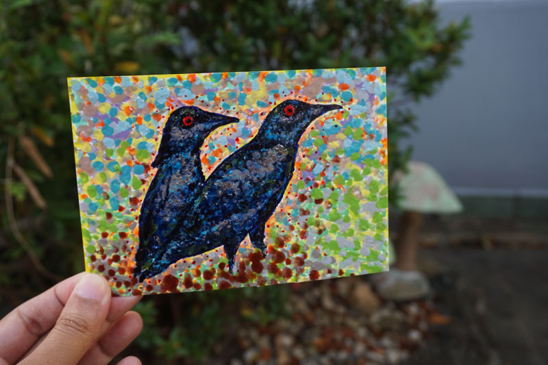 Cutex Art ~ Asian Glossy Starlings