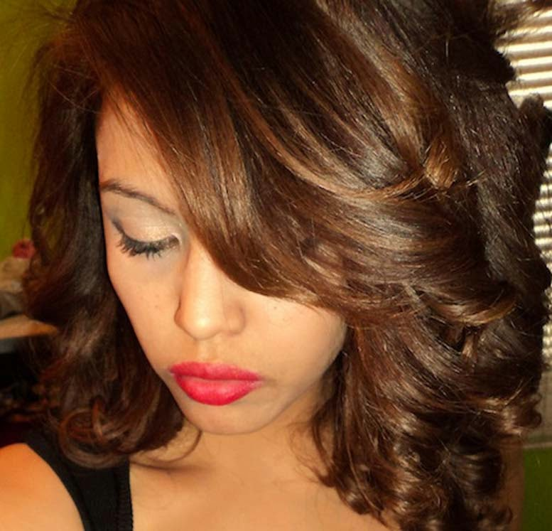 Braun Farbe: Mocca Braun Haarfarbe Ideen