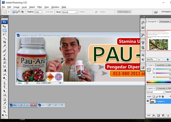 Panduan Percuma Membuat Banner Iklan Online Menggunakan Photoshop CS3