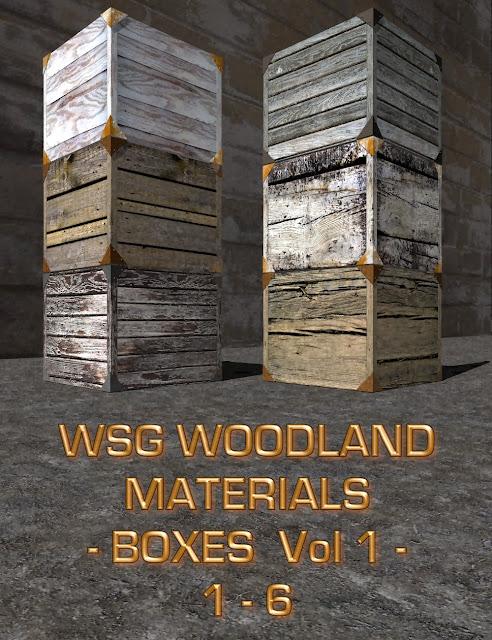 WSG Woodland Materials - Boxes - Vol.1