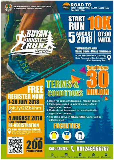 Buyan Jungle Run 2018 - Hari Konservasi Alam Nasional