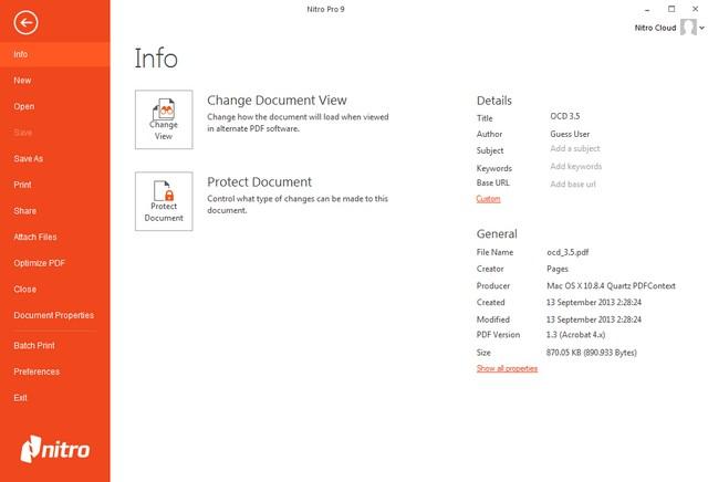 Nitro PDF Professional 9 0 2 37 for (x86/x64) Full Patch