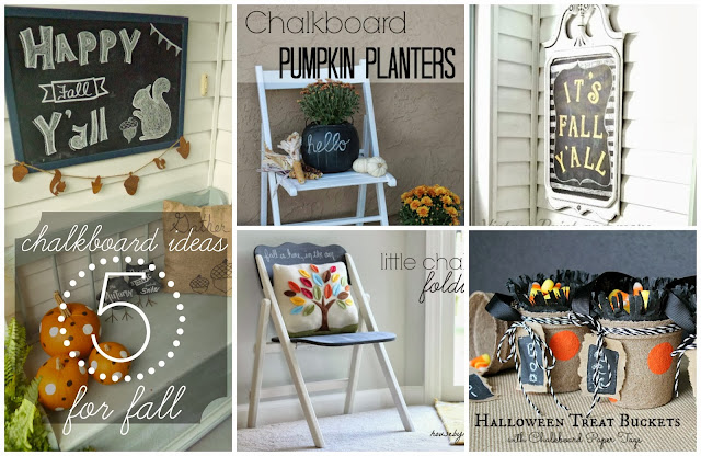 5 Fabulous Chalkboard Ideas for Fall #chalkboard #chalkboardpaint #diy #crafts #fall