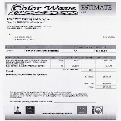 4640 Brandy Oak Court Color Wave Painting Estimate