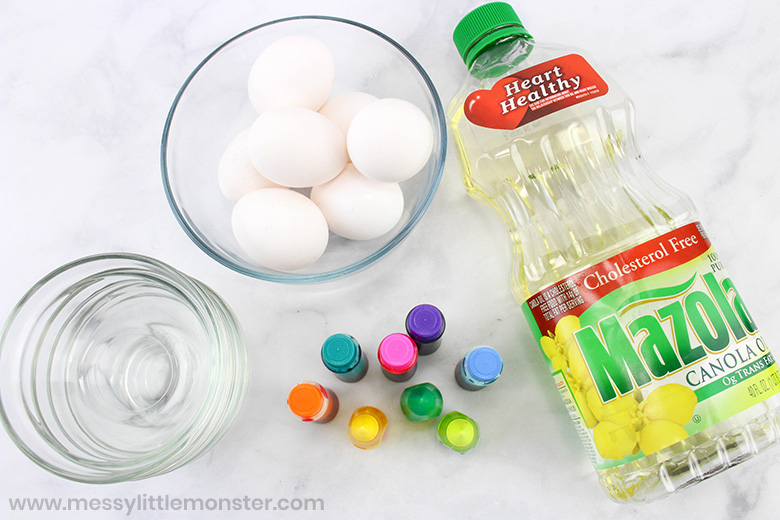 How to dye easter eggs supplies