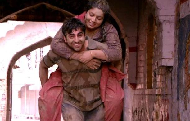 Bhumi, Ayushman, piggy back carry