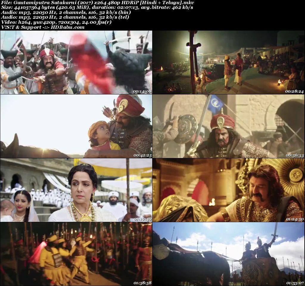 Gautamiputra Satakarni (2017) x264 480p HDRiP [Hindi + Telugu] Screenshot