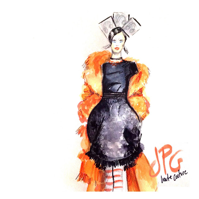 couture fashion sketch