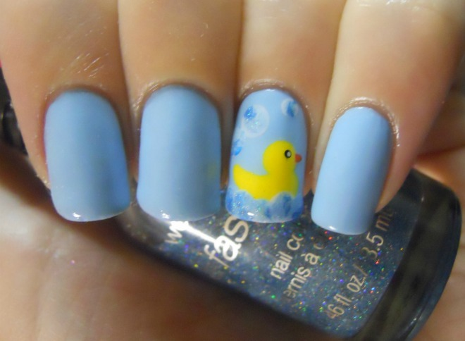 Holy Manicures Rubber Duck Nails