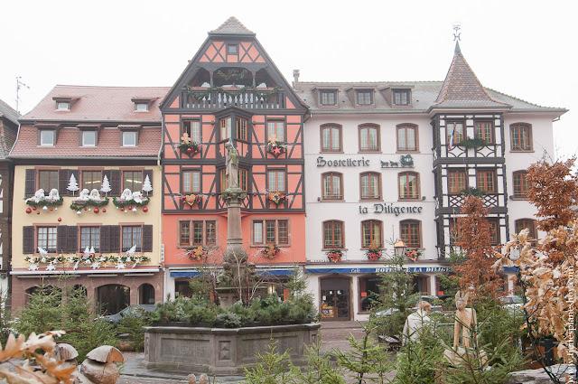 Obernai PLaza del Mercado Alsacia Francia