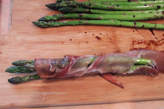 Prosciutto wrapped Asparagus with a Balsamic Glaze