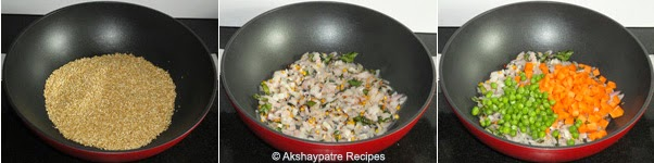 tempering to make dalia upma