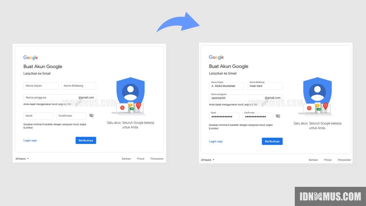 Cara Buat Gmail di Android