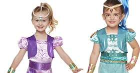 nickelodeon teams up with spirit halloween for shimmer and shine costumes