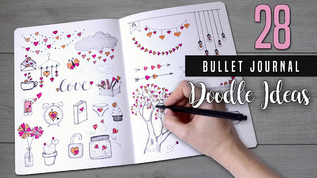 Bullet Journal Doodle ideas 2018 Valentines day