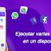 Clon y ejecución múltiples de WhatsApp y Facebook u otras redes sociales y de juego online - descarga gratis