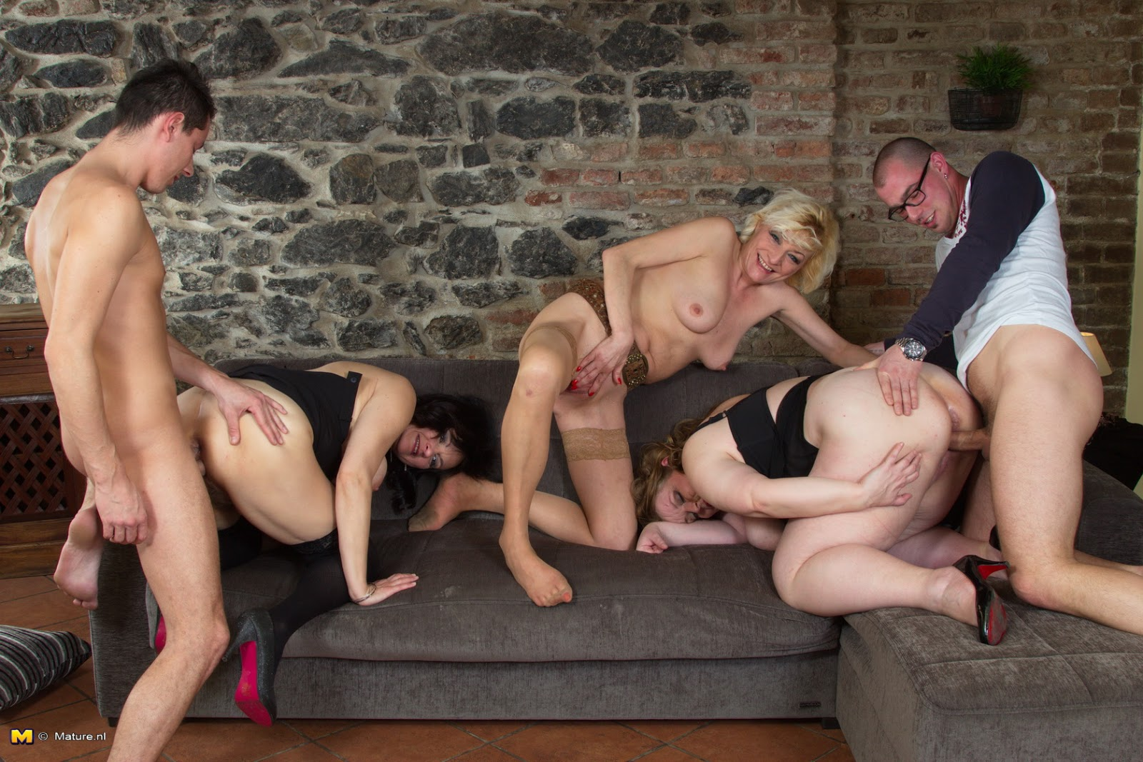 Older Group Sex 111