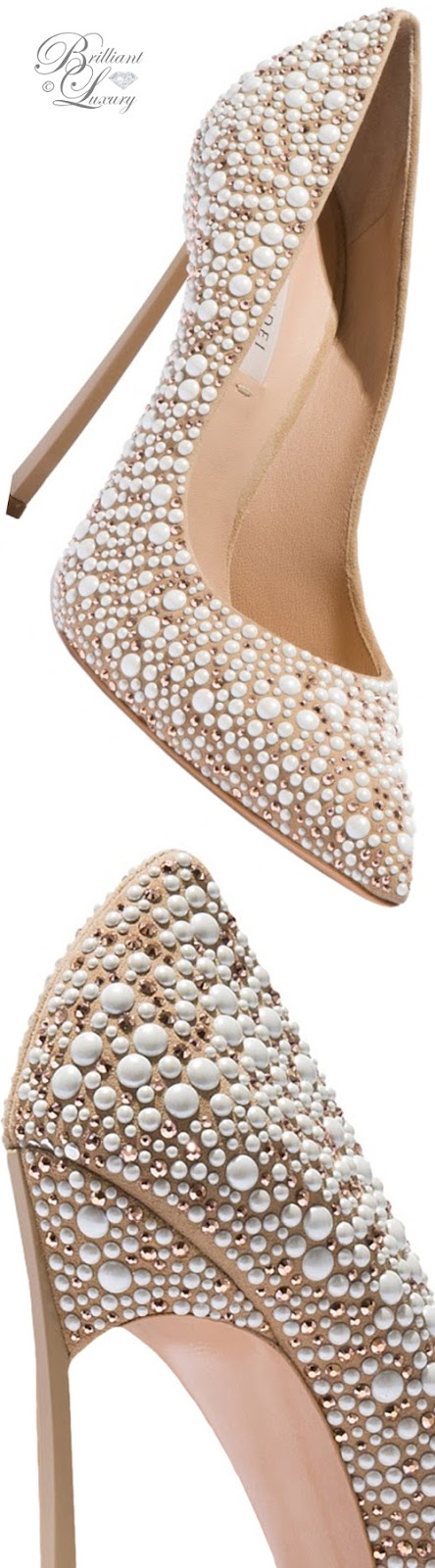 Brilliant Luxury ♦ Fall in ~ Casadei Blade pearl studded pumps