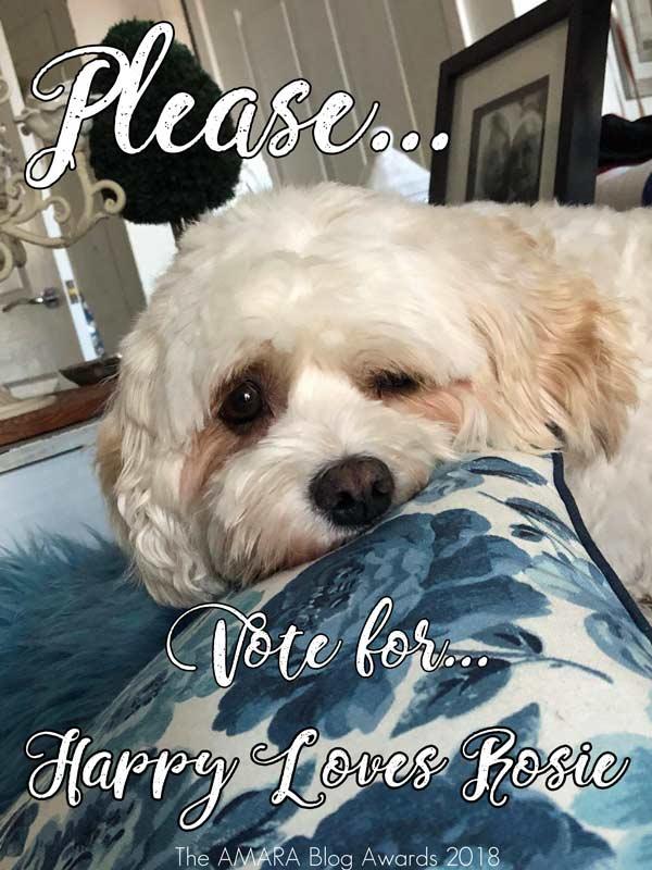 Amara Interior Blog Awards vote for happy Loves Rosie