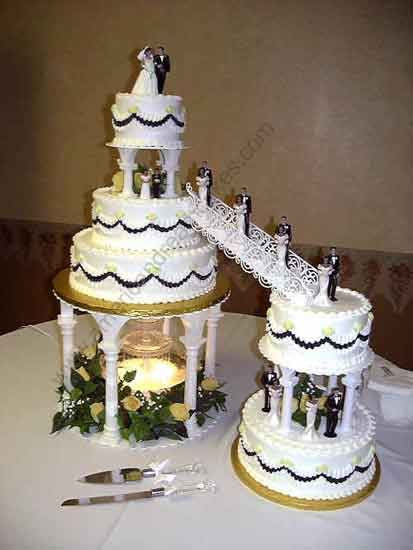 wedding cake stairs and bridge sets wedding cakes with fountains and stairs wedding ideas 25592