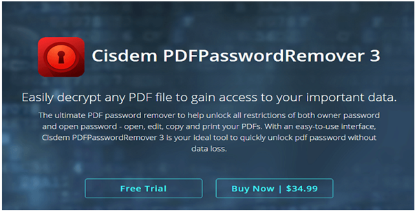 Cisdem PDFPasswordRemover review