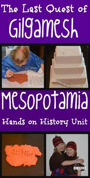 Mesopotamia, Gilgamesh, hands on history unit - so many fun ideas for kids from 1st grade, 2nd grade, 3rd grade, 4th grade, 5th grade, and 6th grade!! (homeschool, social studies, history fair)