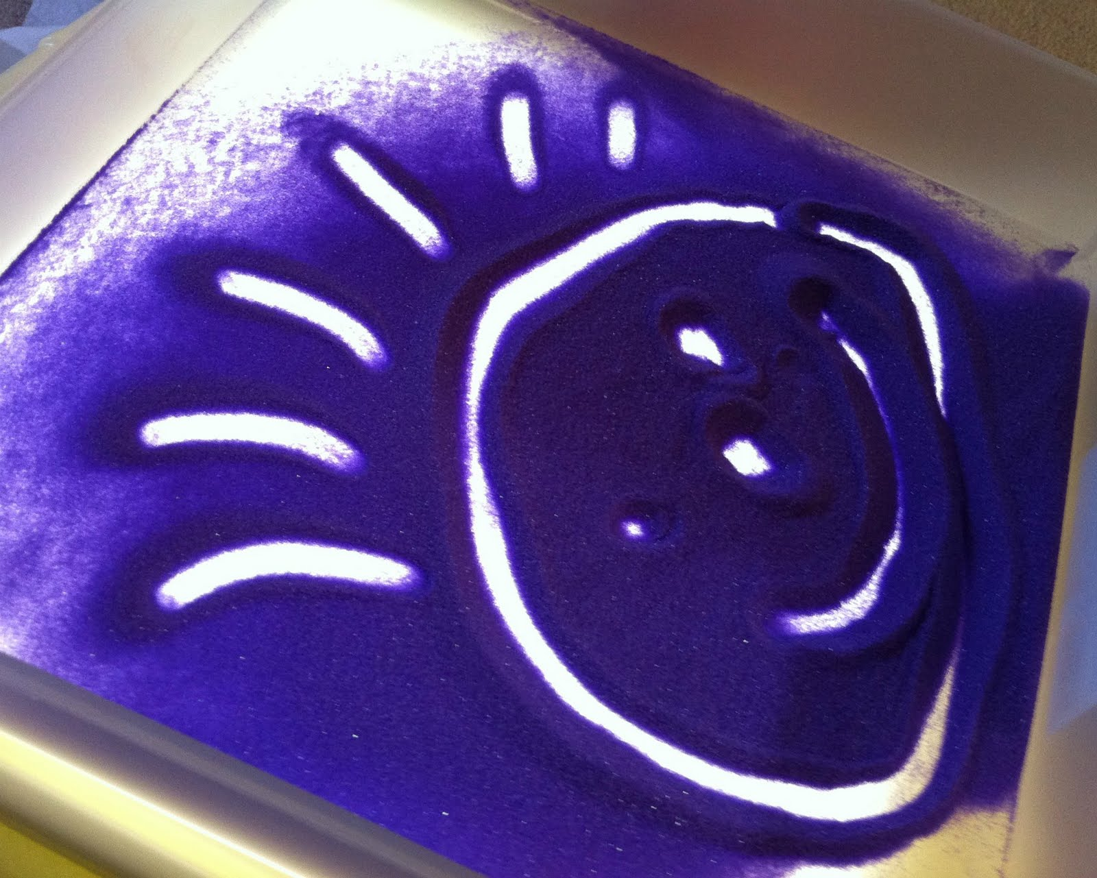 Light Table Sand Art