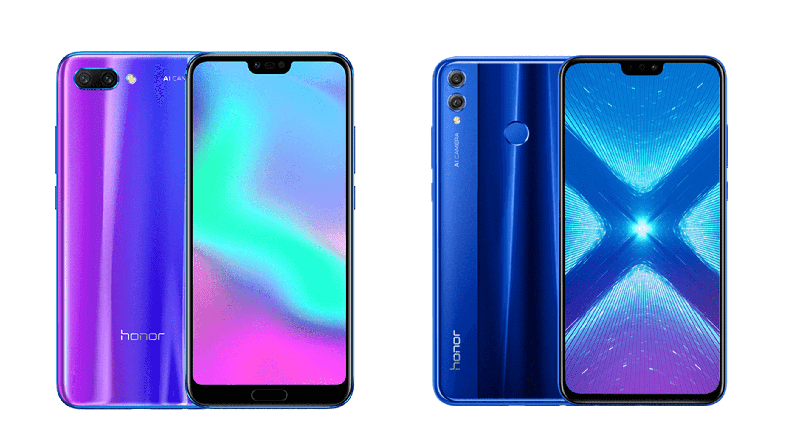 Honor 10 and Honor 8X