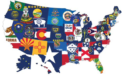 Our State flags are available in Nylon for average weather conditions or Polyester for heavy weather. The State and Territory flags are designed for indoor or outdoor display. The State flags are also available in yard banner style.