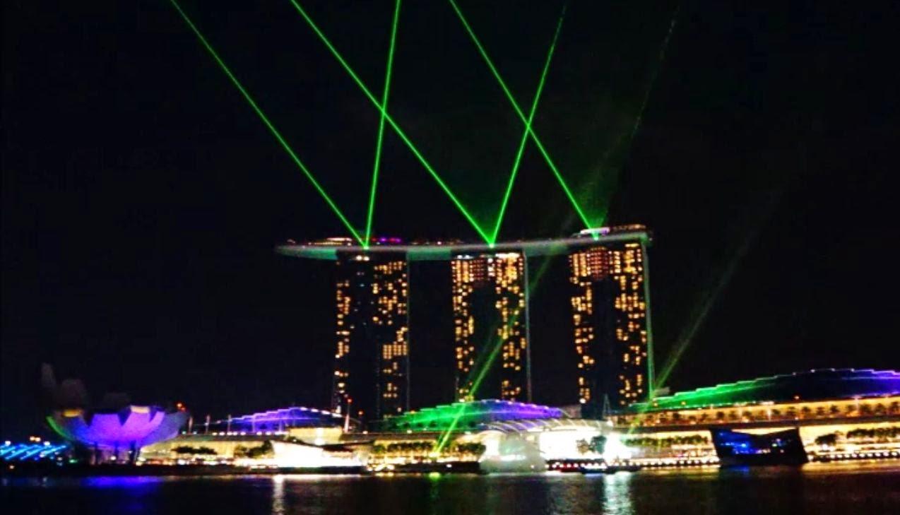 Wonder Full Light and Water Spectacular, Marina Bay, Singapore