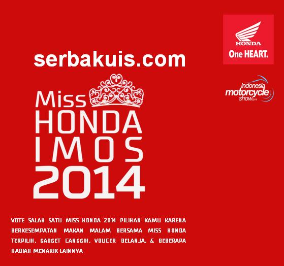 Kuis Vote Miss Honda IMOS 2014 Berhadiah 2 Blackberry Z3
