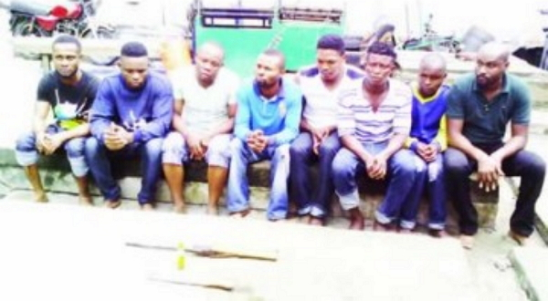 eiye cultists arrested initiation lekki