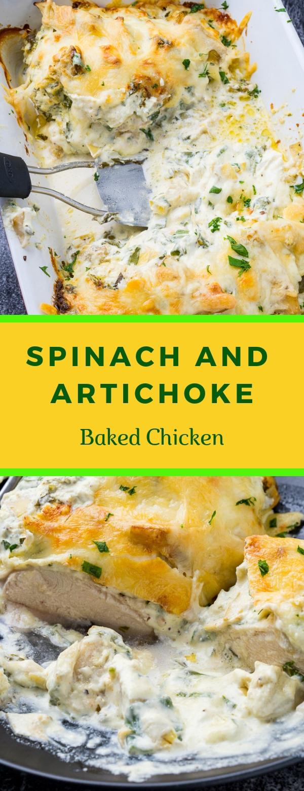 Spinach and Artichoke Baked Chicken #DELICIUS #KETO