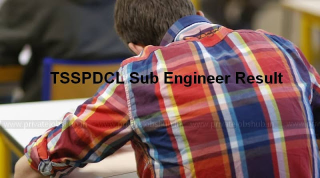 TSSPDCL Sub Engineer Result