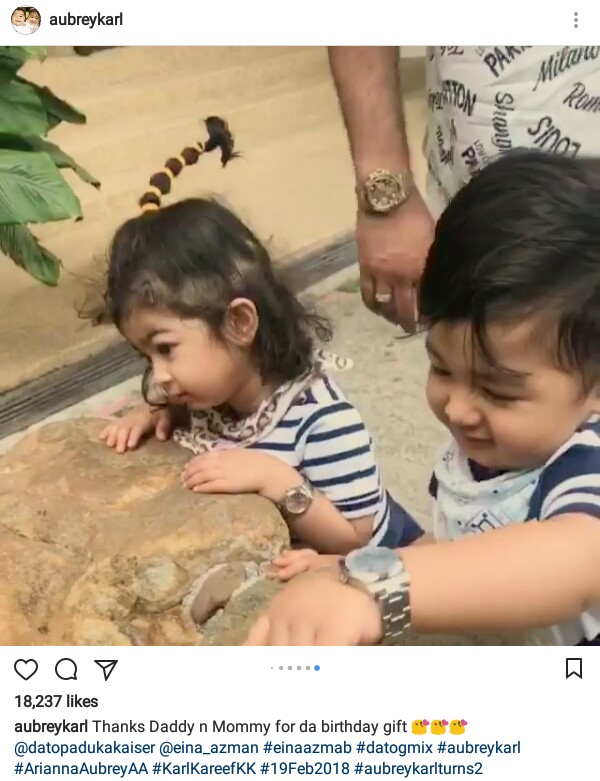 Photos 2 Year Old Twins Get US10200 Rolex Watches From Their Parents As Birthday Gifts