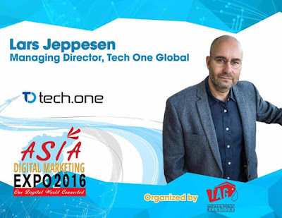 Lars Jeppesen of Tech One Global At Asia Digital Marketing Expo 2016