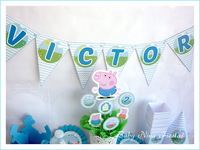 kit de cumpleaños George Pig