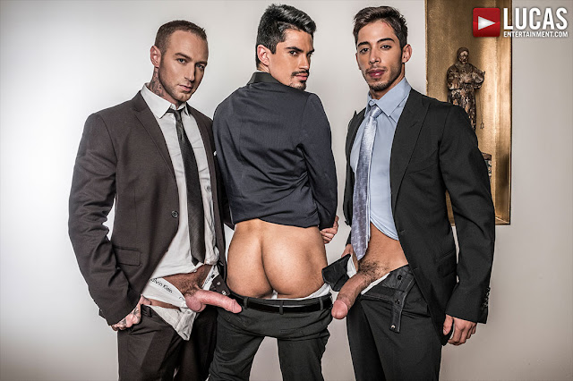 LucasEntertainment - DYLAN JAMES AND DRAE AXTELL DOUBLE TEAM LEE SANTINO