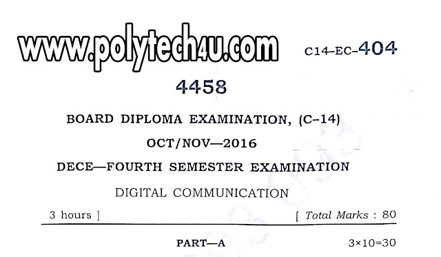 PREVIOUS C-14 DECE DIGITAL COMMUNICATION QUESTION PAPERS