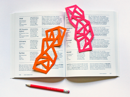 Diy Geometric Felt Bookmarks How About Orange