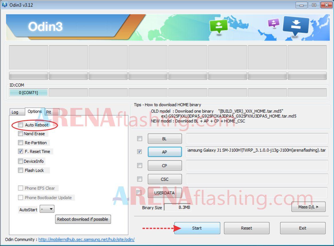 Cara Root Dan Install TWRP Samsung Galaxy J1 J100H/DS - Tutorial