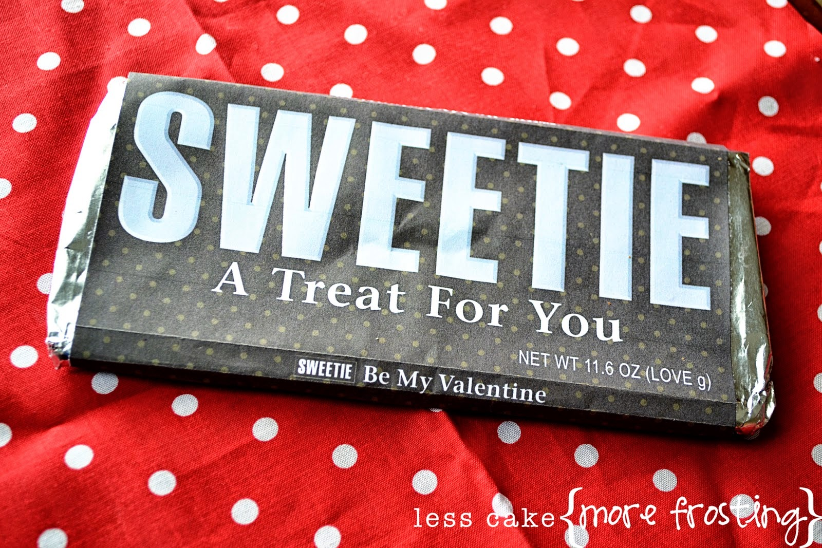 Sweetie Valentine Candy Bar Wrapper