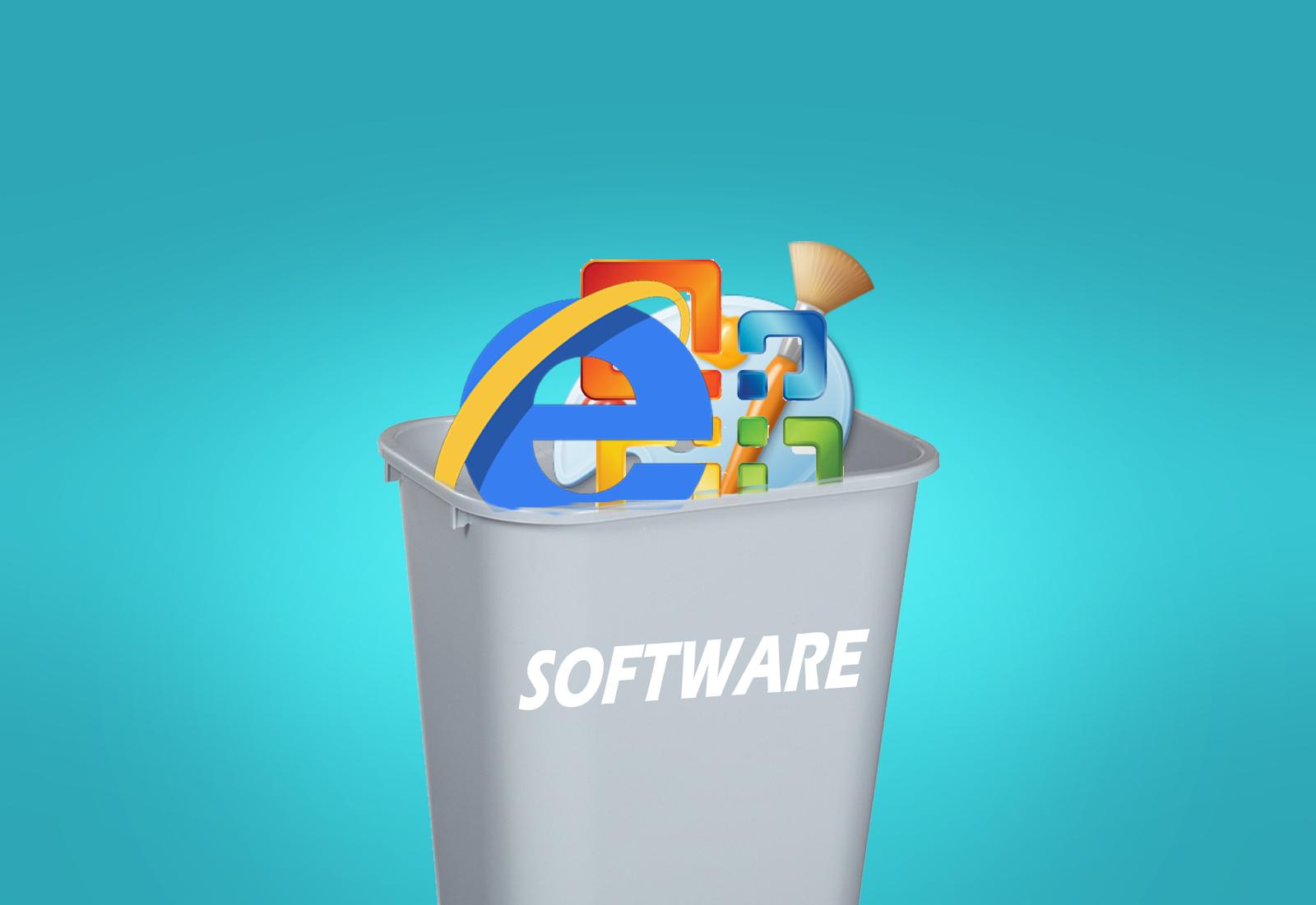 bin, software, tempat sampah