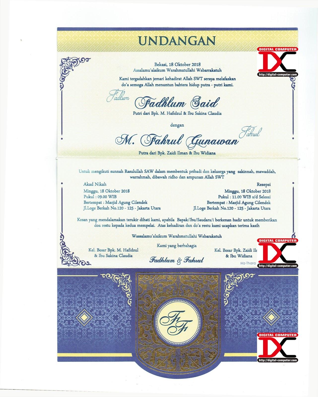 Undangan Softcover Mz-Thara 005