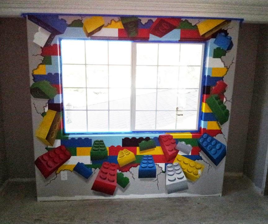 7 Year Old Boys Bedroom Ideas: L STAR MURALS: Lego Mania