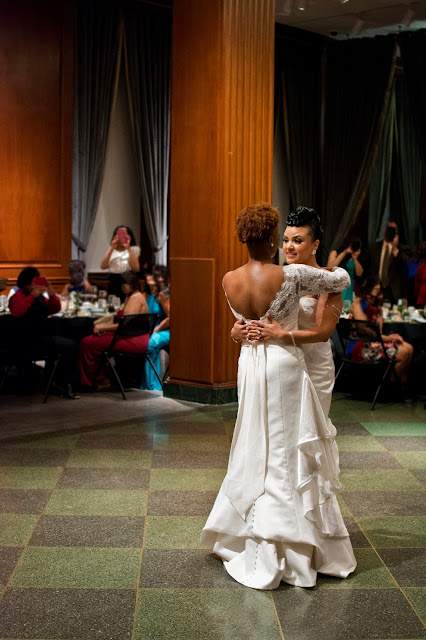 Deep South Brides at 21C Museum Hotel  shot on location by fine art wedding photographer Angela Cappetta first dance in the ballroom