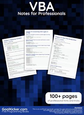 VBA PDF Book Notes | Free Download
