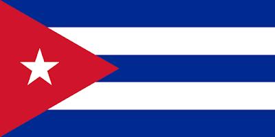 Logo Gambar Bendera Negara Kuba PNG JPG ukuran 400 px