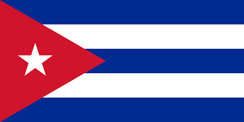 Logo Gambar Bendera Negara Kuba PNG JPG ukuran 800 px