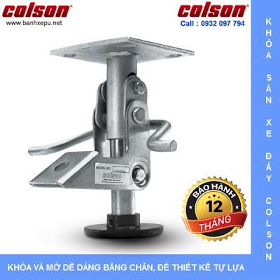 Bộ khóa sàn xe đẩy Colson Mỹ tổng chiều cao khi khóa 159mm | 6002x5 www.banhxedayhang.net